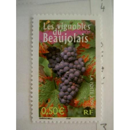 France num Yvert 3648 ** MNH Année 2004 Vin Vigne raisin