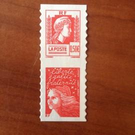 France num Yvert P3716 ** MNH Année 2005 Marianne d Alger paire verticale
