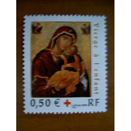France num Yvert 3717 ** MNH Année 2004 Croix Rouge vier enfant cretoise