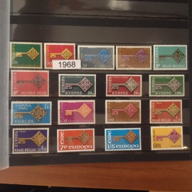 EUROPA ANNEE COMPLETE 1968 ** MNH