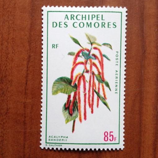 Comores PA 38  ** MNH Fleurs en 1971