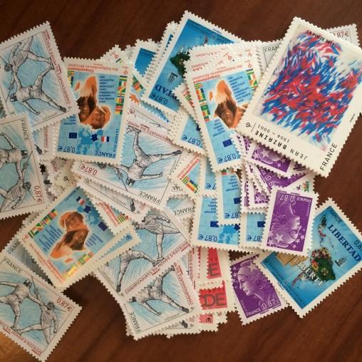 Sous Faciale100 timbres à 0,85Eurosoit85€
