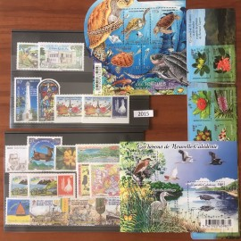 NOUVELLE CALEDONIE ** 2015 ANNEE COMPLETE MNH avec 1237A-1237B, 1262-1263