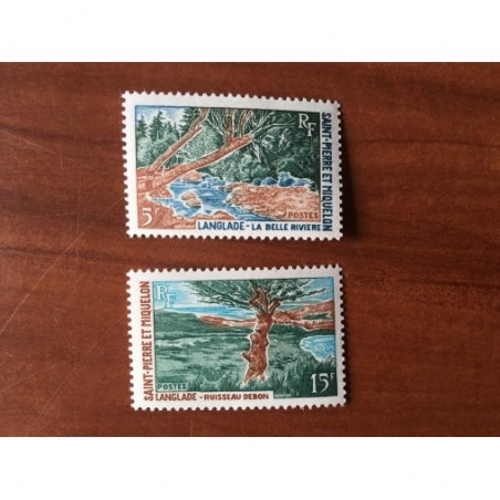 Saint Pierre et Miquelon 385-386 * MH Paysage année 1969