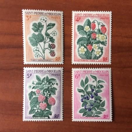 Saint Pierre et Miquelon 401-404 * MH Fleurs année 1970