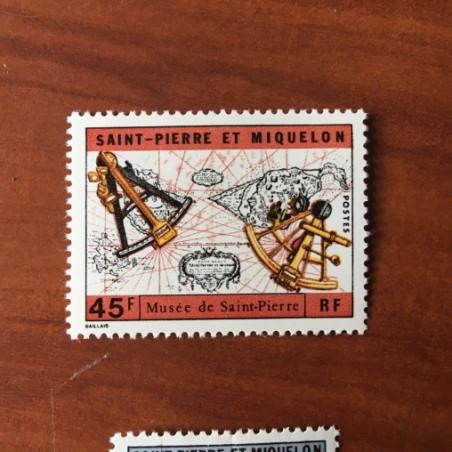 Saint Pierre et Miquelon 418 * MH Carte Sextant année 1971