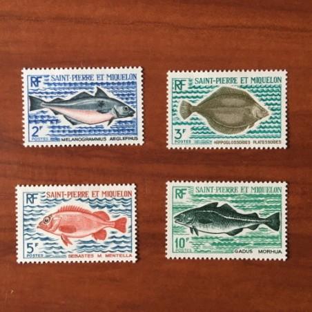 Saint Pierre et Miquelon 421-424 * MH Poisson Fish année 1972