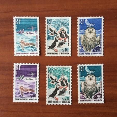 Saint Pierre et Miquelon 425-430 * MH Oiseau Bird année 1973