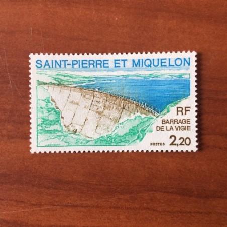 Saint Pierre et Miquelon 452 * MH Barrage de la Vigie année 1976