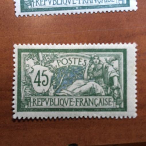 France num Yvert 143 ** Papier GC MNH Merson Année 1907