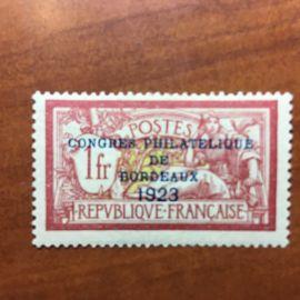 France num Yvert 182 * MH Congrés de Bordeaux Merson Année 1923