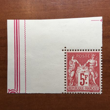 France num Yvert 216  avec bord ** MNH Sage Année 1925