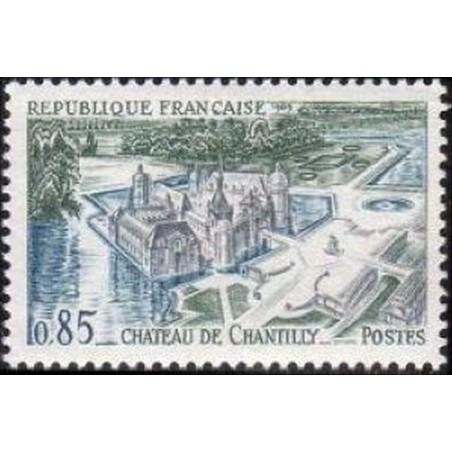 France Yvert Num 1584 ** Château Chantilly  1969
