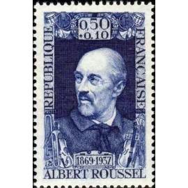 France Yvert Num 1590 ** Roussel Compositeur  1969