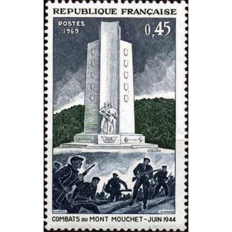 France Yvert Num 1604 ** liberation  1969