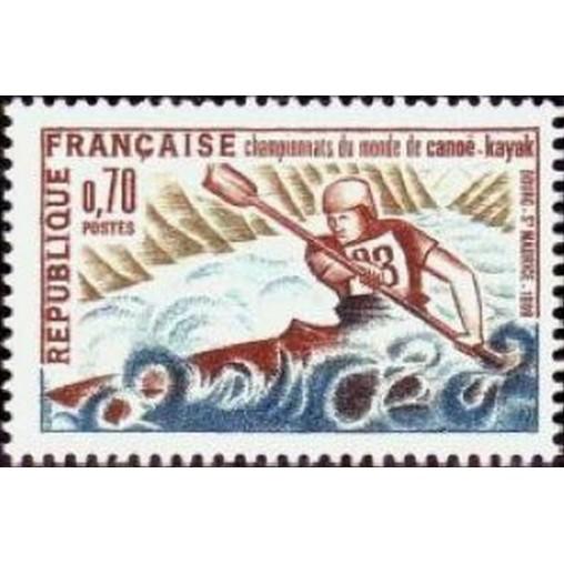 France Yvert Num 1609 ** Canoé Kayak  1969