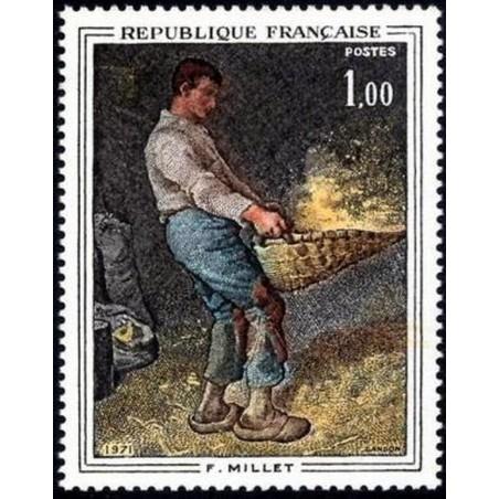 France Yvert Num 1672 ** Tableaux Millet  1971