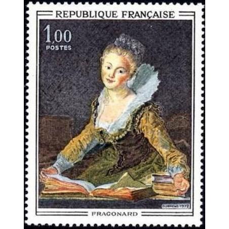 France Yvert Num 1702 ** Tableaux Fragonard  1972