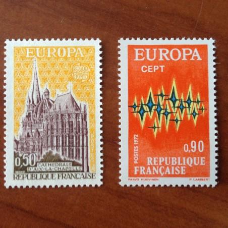 France Yvert Num 1714-1715 ** Europa  1972