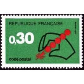 France Yvert Num 1719 ** Code Postal  1972