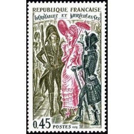 France Yvert Num 1729 ** ombrelle  1972