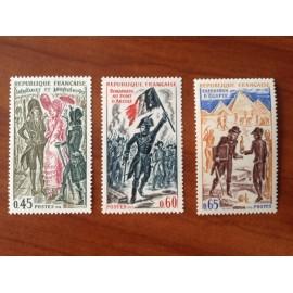 France Yvert Num 1729-1731 ** Histoire  1972