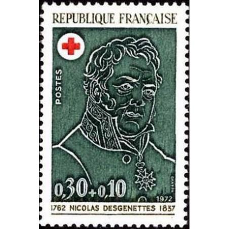 France Yvert Num 1735 ** Croix Rouge  1972