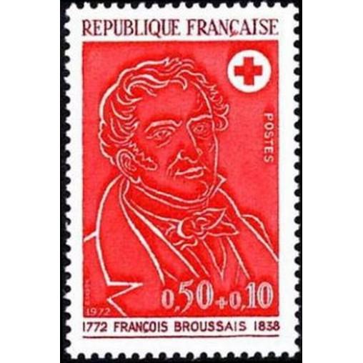 France Yvert Num 1736 ** Croix Rouge  1972