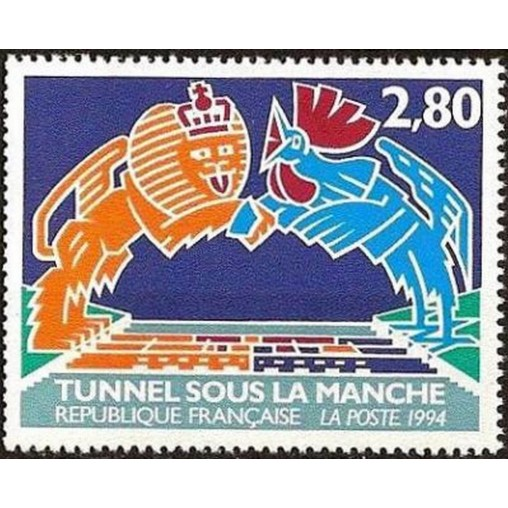 France Yvert Num 2880 ** Tunnel sous la Manche  1994