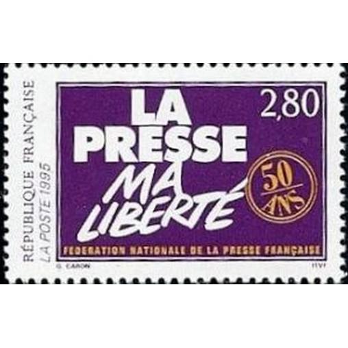 France Yvert Num 2917 ** La Presse  1994