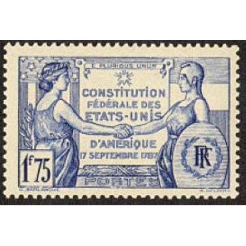 France num Yvert 357 ** MNH USA Année 1937