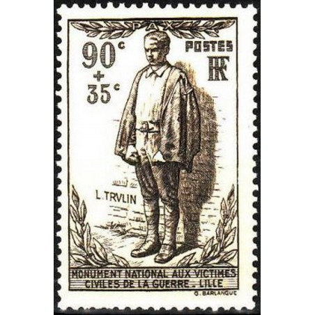 France num Yvert 420 ** MNH Statue Année 1939