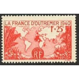 France num Yvert 453 ** MNH Empire français Année 1940