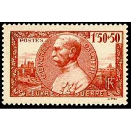 France num Yvert 456 ** MNH Gallieni Année 1940