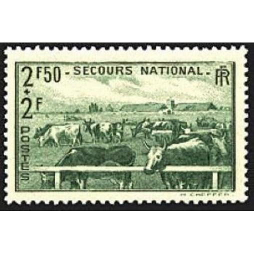 France num Yvert 469 ** MNH Elevage Vache Année 1940