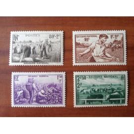 France num Yvert 466-469 ** MNH Série Année 1940