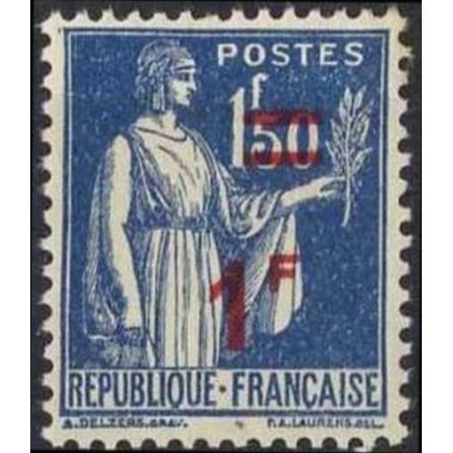 France num Yvert 485 ** MNH surchargé Paix Année 1941