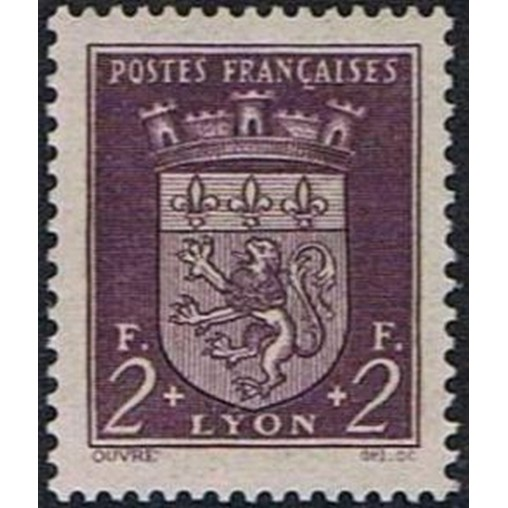 France num Yvert 533 ** MNH Armoirie Lyon Année 1941