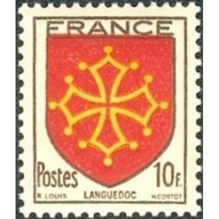 France num Yvert 603 ** MNH Armoiries Languedoc Année 1944